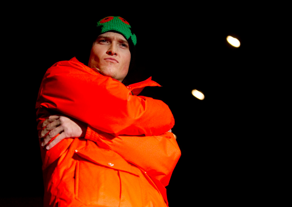 Description of . Trespass' tangerine nacho jacket, as the SIA Snow Show hosted its 2013 Snow Fashion & Trends Show at the Colorado Convention Center  in downtown Denver  on Wednesday, January 30, 2013.  (Photo By Cyrus McCrimmon / The Denver Post)