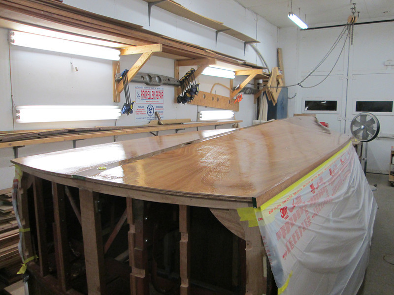 Rear view of three coats of epoxy applied.