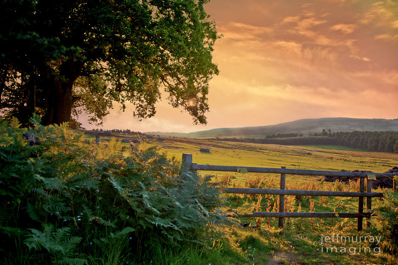 Farm gate to Eden Valley at the rear of Whinfell Forrest, Cumbria