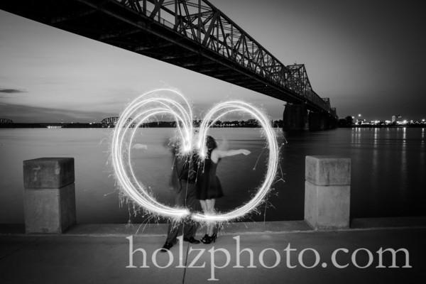 Tiffany & Barry B/W Engagement Photos