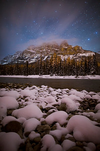 """Frigid Fortress"" VI  Castle Mountain, Banff National Park."