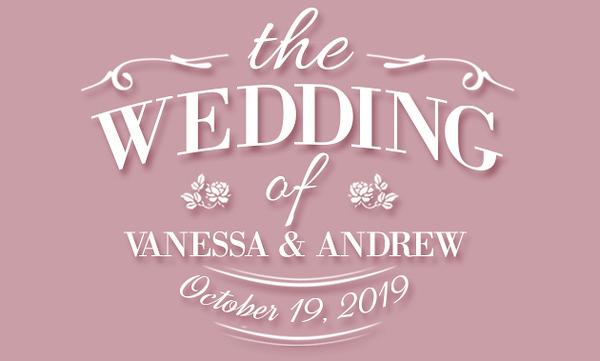 Wedding of Vanessa & Andrew (Prints)
