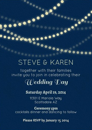 Extra #5 - Karen & Steve's Wedding INVITE
