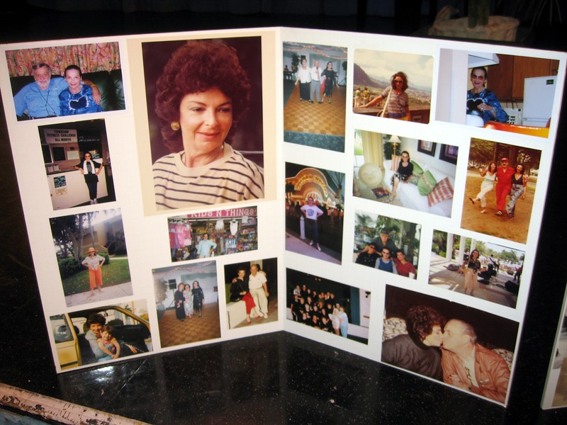 Photo montage of Bernice with family and friends
