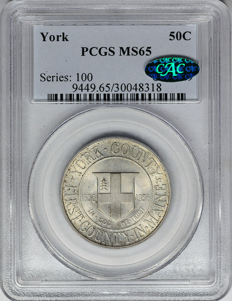 1936 SILVER COMMEMORATIVE YORK PCGS MS65 CAC Obverse