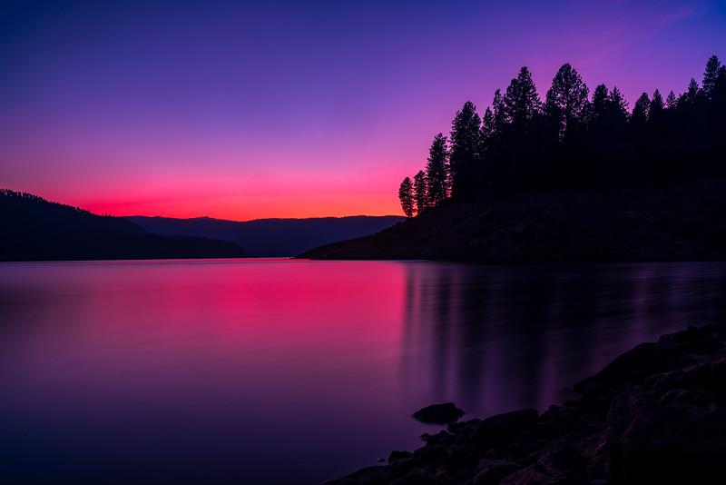 Sunset at Dworshak (A)
