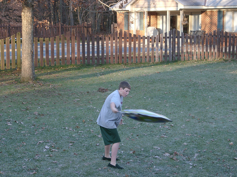 Ben with Inflatable Frisby