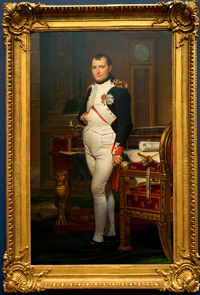 The great French portraitist David also portrayed Napoleon as emperor.