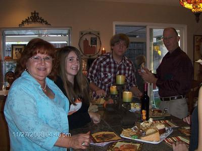 Thanksgiving Dinner at Dana's 11-27-08