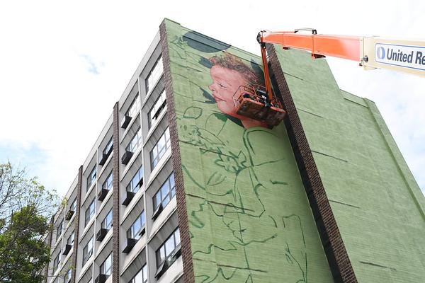 Mural by Gaia on Ashland Park Apartments - 060821