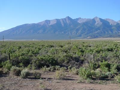 Blanca Peak and Ellingwood Pt, June, 2011