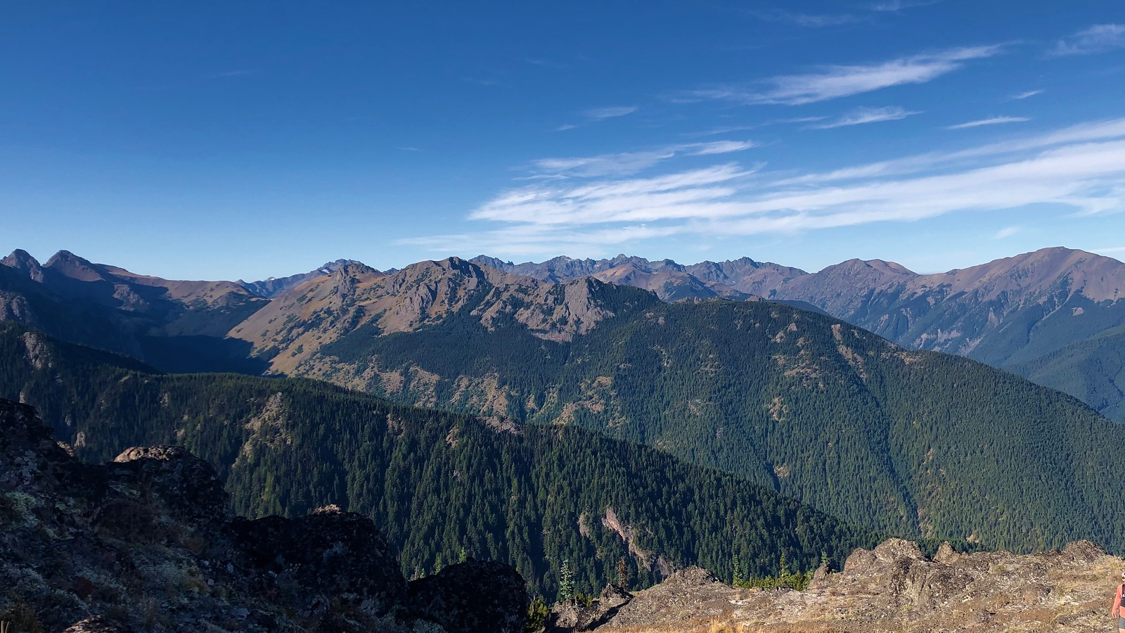 The mountains from the summit
