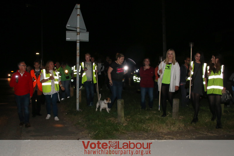'Save Our Lights' Protest March against Essex County Council's part night street lighting scheme.