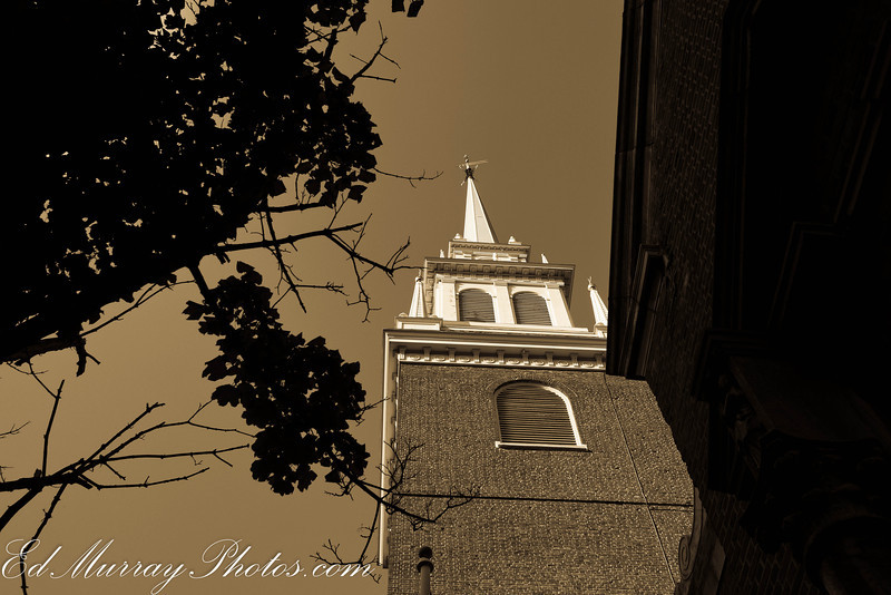 Looking up: Here's one more of the Old North Church