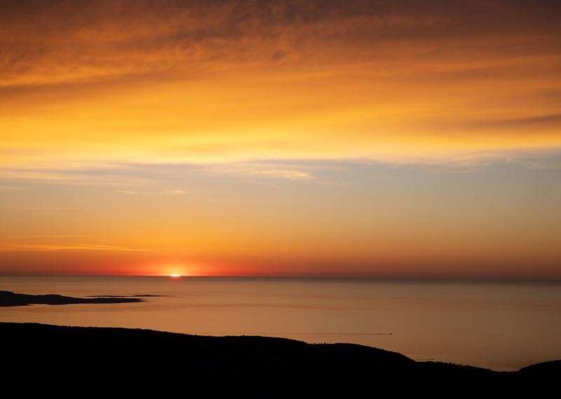 When the Sun Rises Below You, Cadillac Mountain, Acadia National Park