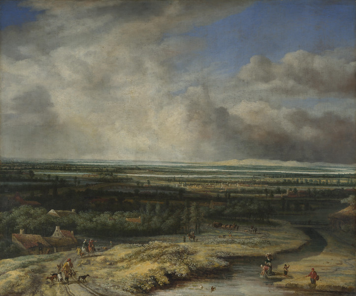 An Extensive Landscape with a Hawking Party