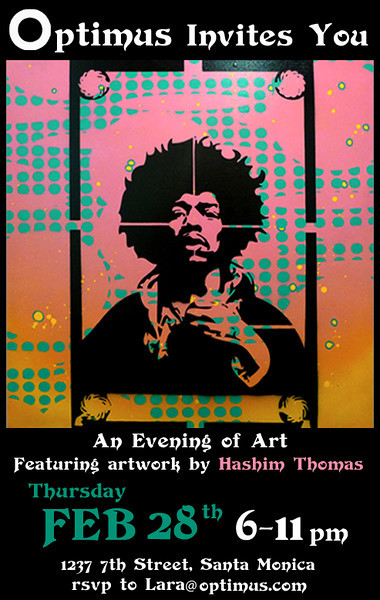 02.28.13 An evening of art featuring artwork by Hashim Thomas.