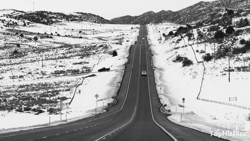 A Wintery Road in Colorodo, USA