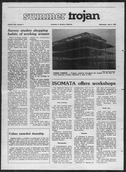 Summer Trojan, Vol. 93, No. 3, June 08, 1983