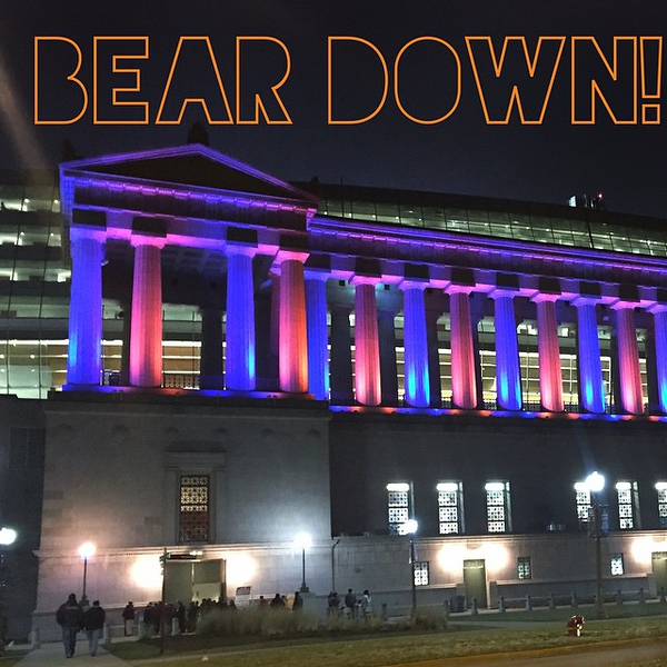 Don't think tonite is gonna be pretty on the field so trying to enjoy the beauty outside. #BearDown #BearDownChicagoBears