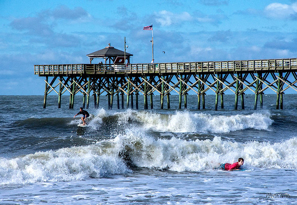 Labor Day Surf Off-Crest View Pier-Oak Island, NC