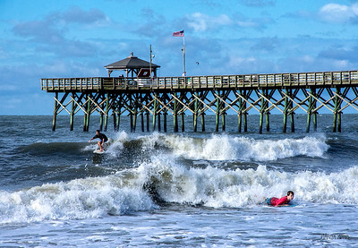 Labor Day Surf Off-Crest View Pier-Oak Island, NC