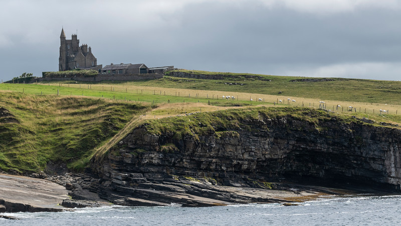Castle on coast, Classiebawn Castle, Mullaghmore Peninsula, Grange, County Sligo, Ireland