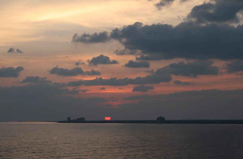 Sunrise over Cozumel