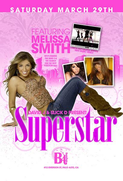 David J & Slick D Present Superstar ft Melissa Smith MTV's Making The Band 3 @ B4 Twelve 3.29.08