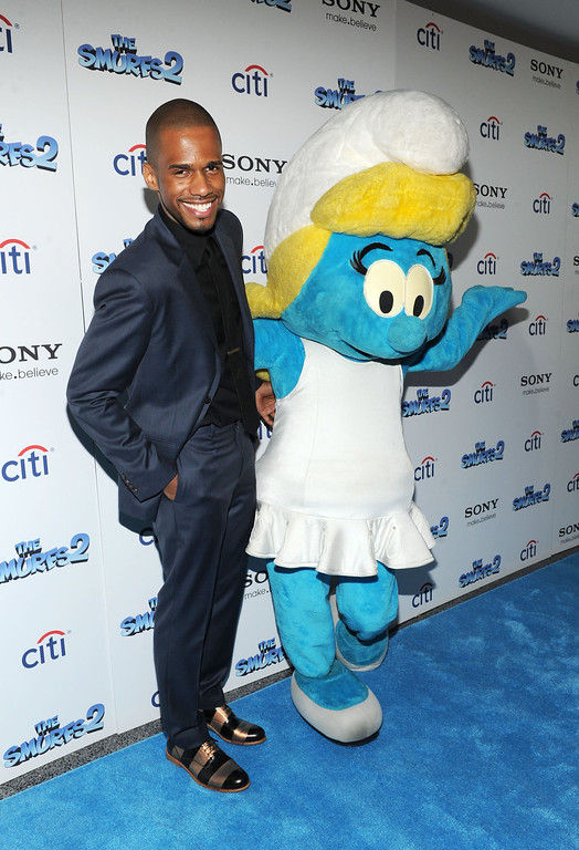 """. Eric West attends \""""The Smurfs 2\"""" New York Blue Carpet Screening at Lighthouse International Theater on July 28, 2013 in New York City.  (Photo by Craig Barritt/Getty Images)"""