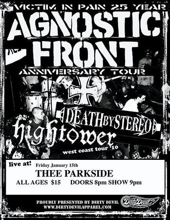 agnostic front @thee parkside 01/15/2010