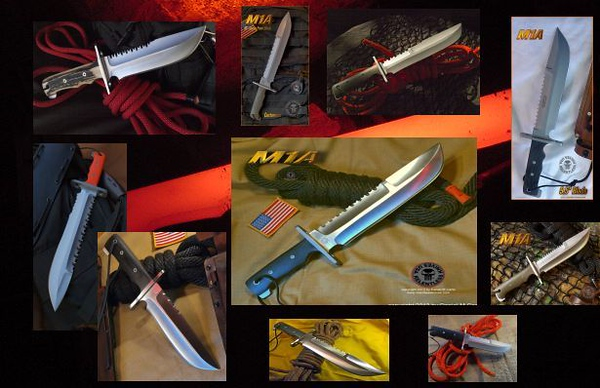 Relentless Knives M1A  Variations
