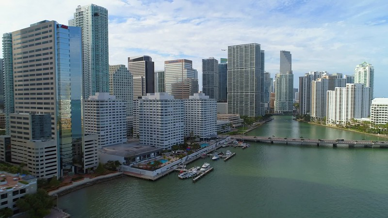 Aerial video City of Brickell 4k