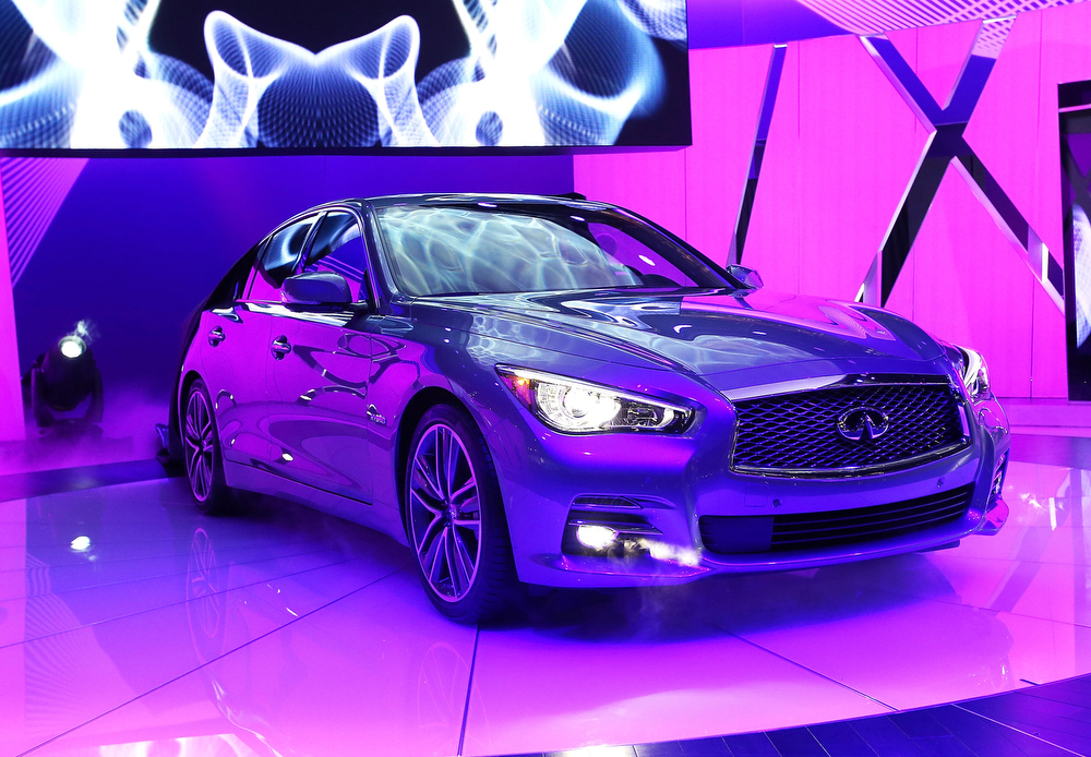 . Infiniti introduces the 2014 Q50 to replace their best-selling G sedan at the North American International Auto Show on January 14, 2013 in Detroit, Michigan. The auto show will be open to the public January 19-27.  (Photo by Scott Olson/Getty Images)