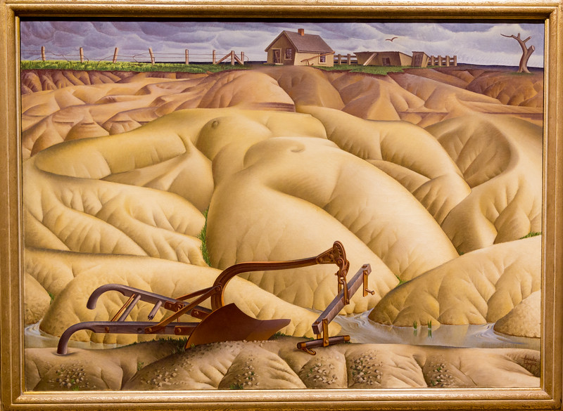 "Alexander Hogue: ""Erosion No. 2 – Mother Earth Laid Bare,"" painted in 1936, the year of the great American Dust Bowl."