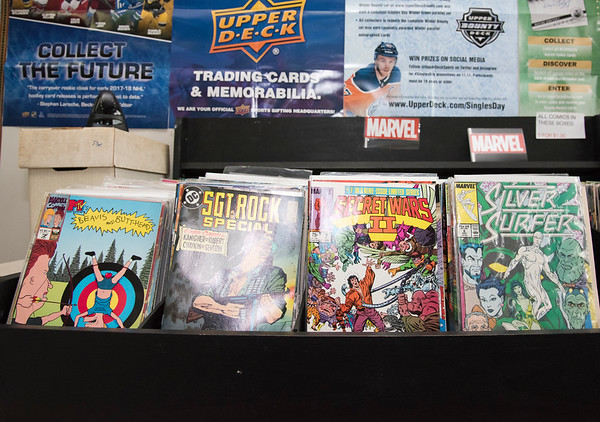 06/10/19 Wesley Bunnell | Staff Comic books for sale at IDeal Card & Memorabilia's new location at 153 Main St in Terryville.