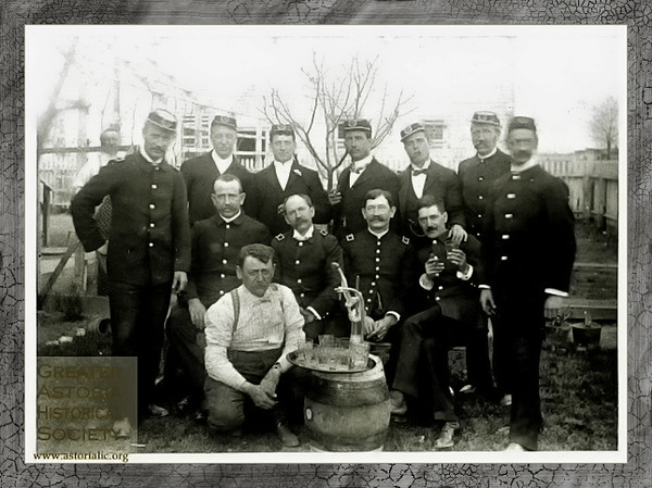 The Knights of Pythias gather around an old keg in the backyard.   http://www.rootsweb.ancestry.com/~iaohms/biography/pioneer_knights_pythias.html   http://pakofp.org/events.html