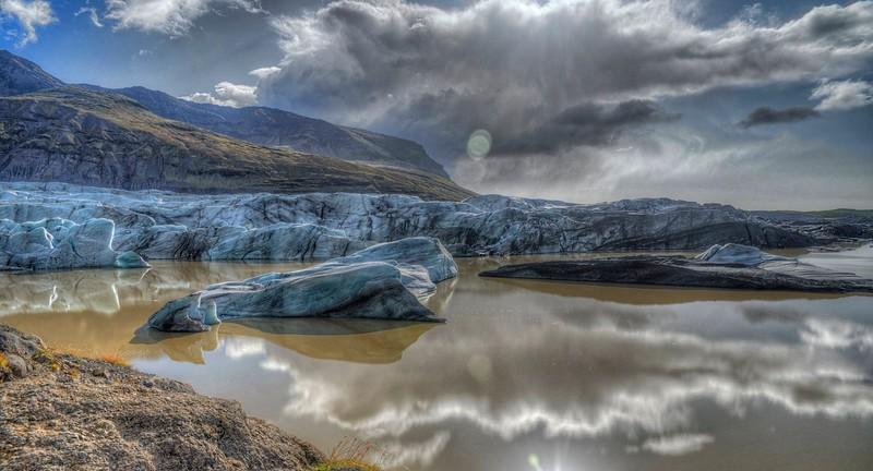 Svinafellsjokull - dramatic sky