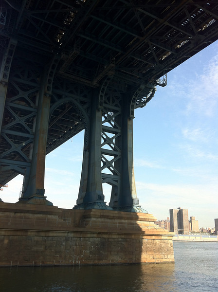 A section of the Brooklyn Bridge