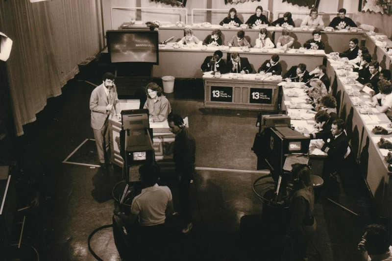 PLEDGE DRIVE KERA Channel 13 Studio, Dallas, Texas - 1980s