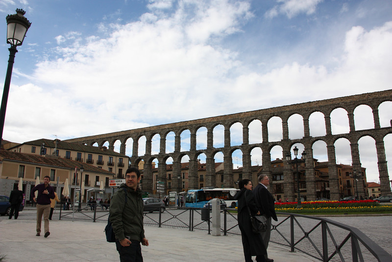 Segovia.  Because we were in Madrid for so long, Miranda and I took a day trip to Segovia while the boys were working.  It was awesome!  This is the ancient Roman aqueduct that goes through the city.  It's in excellent condition.