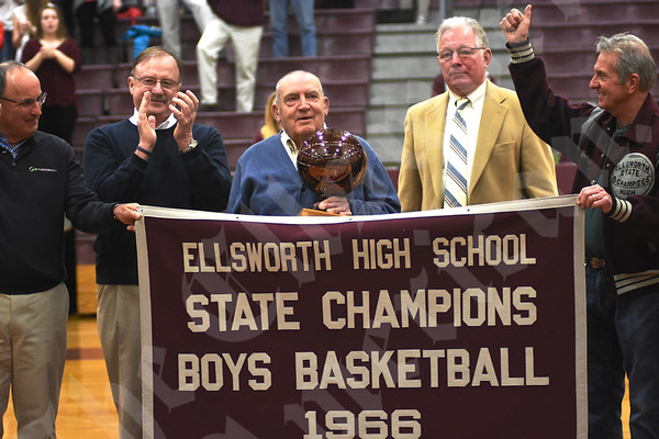1966 Ellsworth boys' basketball 01/27/2016