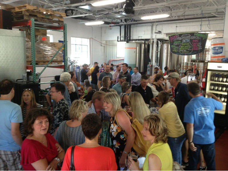 . Thirsty locals crowd the back-alley brewery behind Excelsior�s boutique-heavy downtown. (Courtesy of Excelsior Brewing)