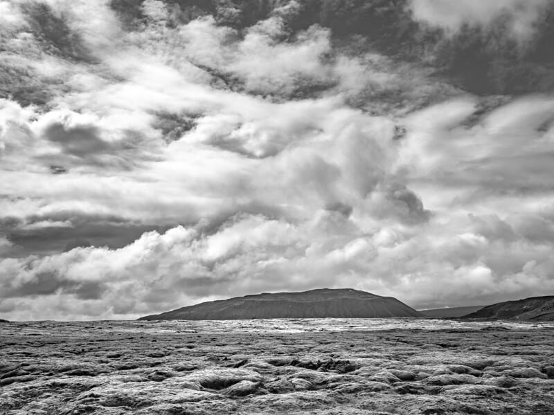 Iceland Empty Fields   black & White Photography by Wayne Heim