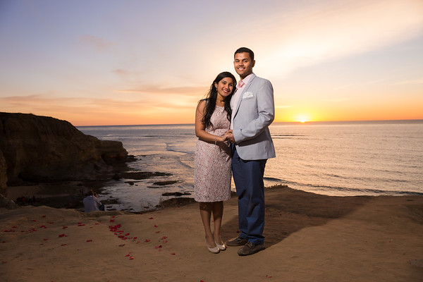 Sunset Cliffs Surprise Engagement