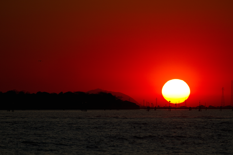 """Red Sunset"", Island of Lido, Venice, Italy"