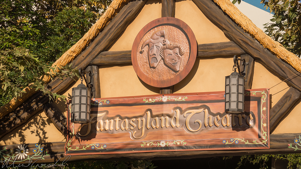 Disneyland Resort, Disneyland, Fantasyland, Theater, Theatre, Sign, Marquee