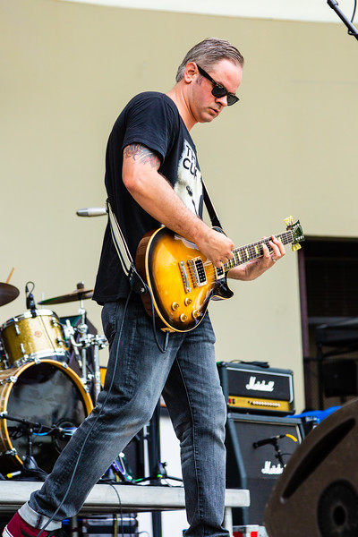 Justin Shaner, guitarist of Lochness Monster performing at SunFest, May 2, 2019. [JOSEPH FORZANO]
