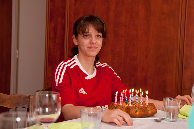 Clemence and cake.