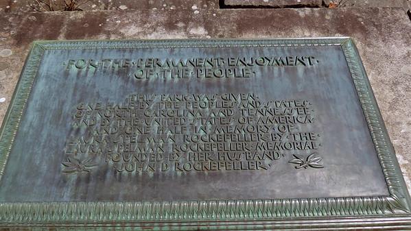 4 Rockefeller Memorial at Newfound Gap .  .  .